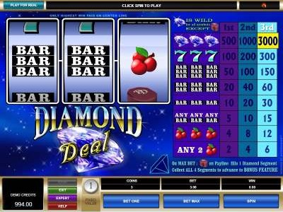 Diamond Deal Slot Machine Review & Free Instant Play Game
