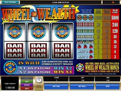 Slots Casino Wheel of Wealth